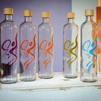 Trinkflaschen aus Glas